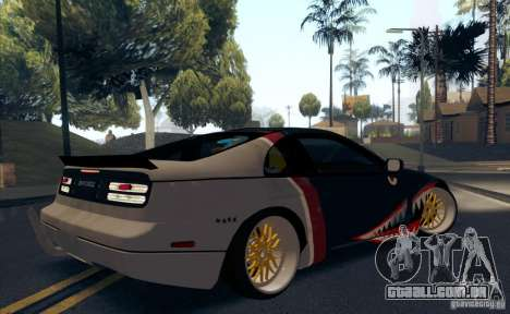 Nissan 300ZX Bad Shark para GTA San Andreas vista inferior