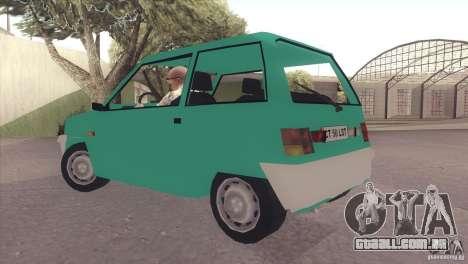 Dacia 500 Lastun para GTA San Andreas traseira esquerda vista