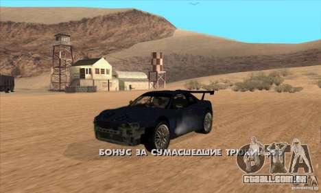 Nissan Skyline R34 GT-R LM para GTA San Andreas vista traseira