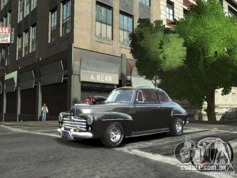 Ford Super Deluxe 1948 para GTA 4 esquerda vista