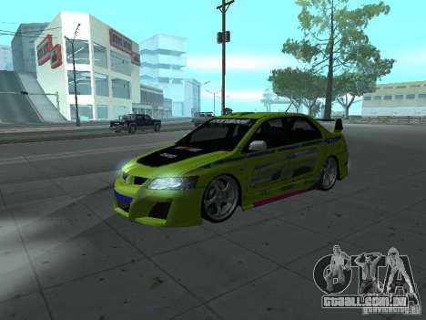 Mitsubishi Lancer Evolution 8 para GTA San Andreas interior