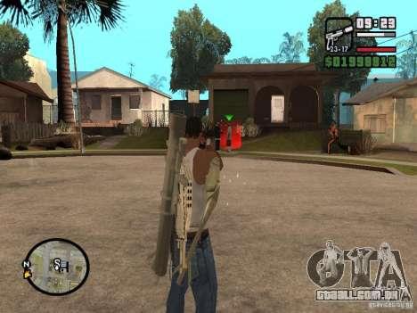 A visão padrão para GTA San Andreas terceira tela