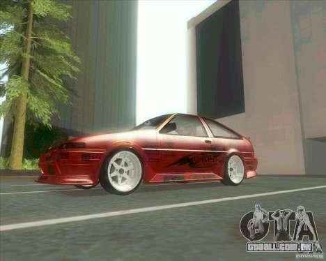 Ae86 tuned by Xavier para GTA San Andreas vista traseira