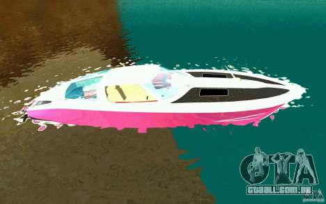 Mamba Speedboat para GTA San Andreas esquerda vista