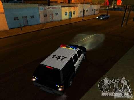 Chevrolet Suburban Los Angeles Police para GTA San Andreas vista superior
