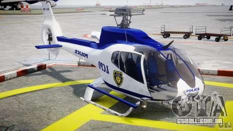 Eurocopter EC 130 LCPD para GTA 4 vista de volta