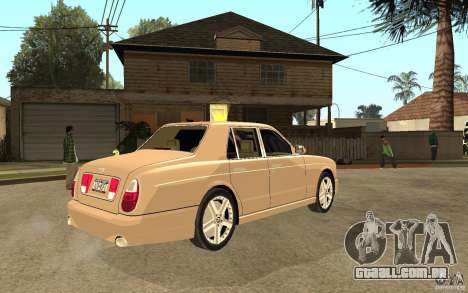Bentley Arnage para GTA San Andreas vista direita