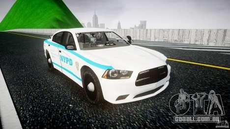 Dodge Charger NYPD 2012 [ELS] para GTA 4 vista de volta