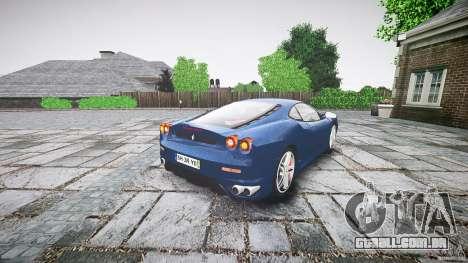 Ferrari F430 v1.1 2005 para GTA 4 traseira esquerda vista