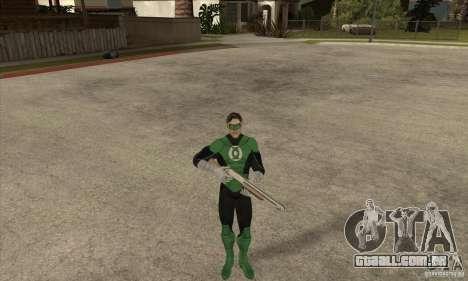 Green Lantern para GTA San Andreas por diante tela