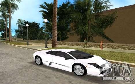 Lamborghini Murcielago V12 6,2L para GTA Vice City deixou vista