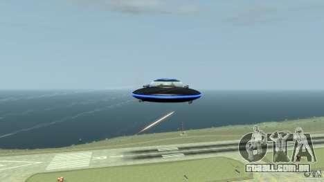 UFO neon ufo blue para GTA 4 vista interior