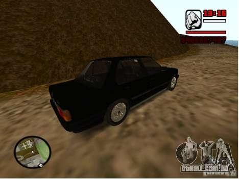 BMW 325i E30 para GTA San Andreas traseira esquerda vista