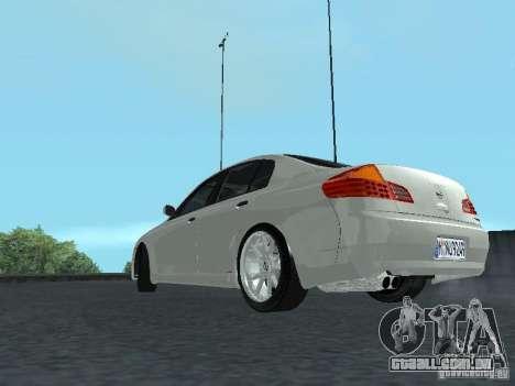 Nissan Skyline 300 GT para GTA San Andreas traseira esquerda vista