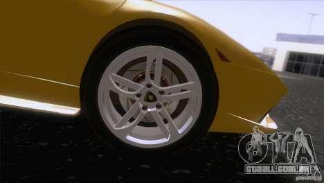 Lamborghini Murcielago LP640 2006 V1.0 para GTA San Andreas vista traseira