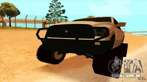 Dodge Ram 2500 4x4 para GTA San Andreas vista direita