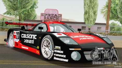 Nissan R390 GT1 1998 v1.0.1 para GTA San Andreas traseira esquerda vista