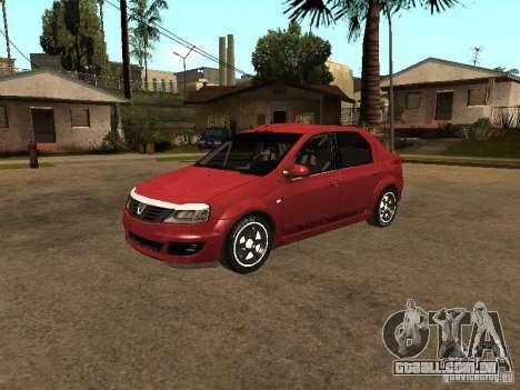 Dacia Logan Rally Dirt para GTA San Andreas