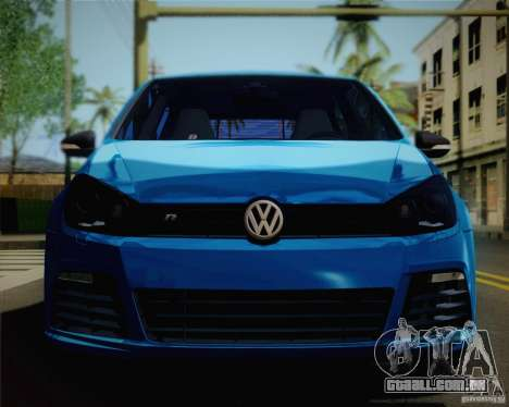 Volkswagen Golf R 2010 para GTA San Andreas vista direita