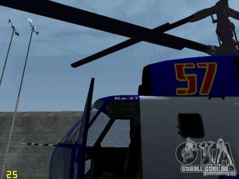 Ka-27 para GTA San Andreas vista direita