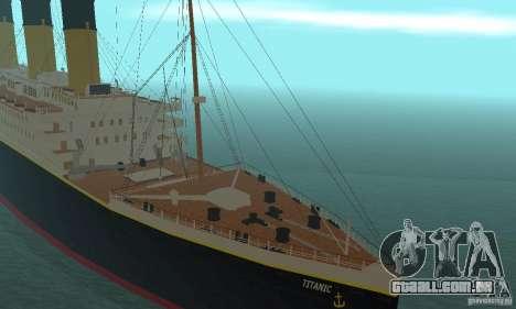 RMS Titanic para GTA San Andreas vista traseira