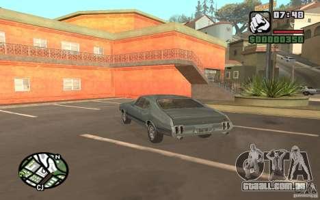 Oldsmobile 442 para GTA San Andreas esquerda vista