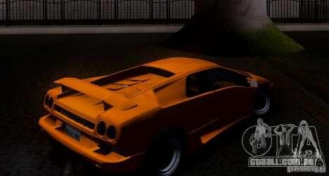 Lamborghini Diablo VTTT Black Revel para GTA San Andreas vista traseira