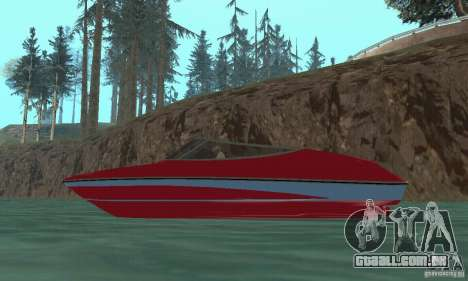 Speedboat para GTA San Andreas vista direita