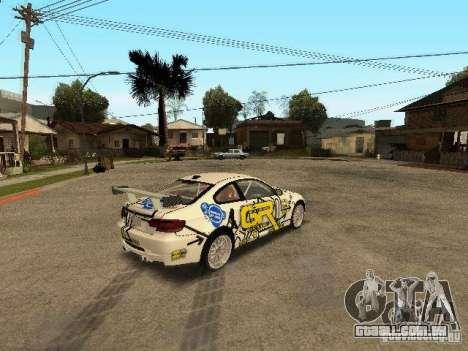BMW M3 E92 Grip King para GTA San Andreas traseira esquerda vista