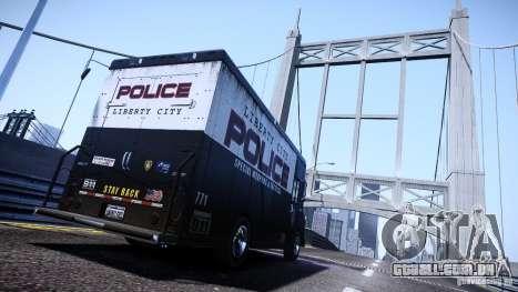 Boxville Police para GTA 4 esquerda vista