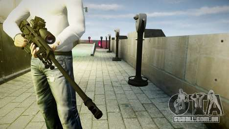 Barret 98B (sniper) para GTA 4 terceira tela