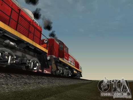 RZD Tem2-6883 para GTA San Andreas vista inferior