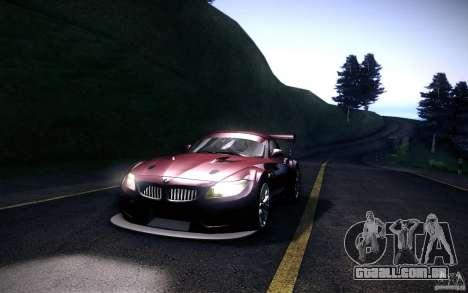 BMW Z4 E89 GT3 2010 para GTA San Andreas esquerda vista