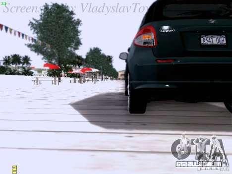 Suzuki SX4 Sportback 2011 para vista lateral GTA San Andreas
