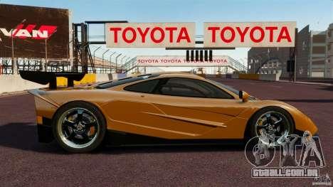 McLaren F1 para GTA 4 esquerda vista