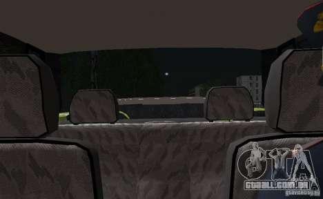 VAZ 2115 polícia DPS para GTA San Andreas vista superior