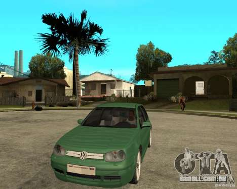 Volkswagen Golf IV GTI para GTA San Andreas vista traseira