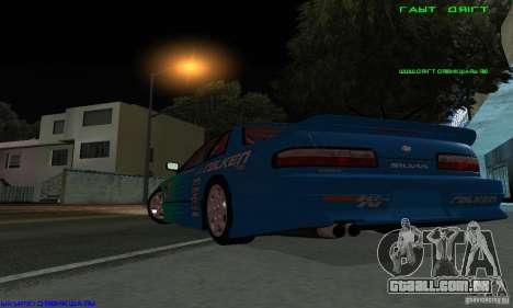 Nissan Silvia S13 Tunable para GTA San Andreas vista superior