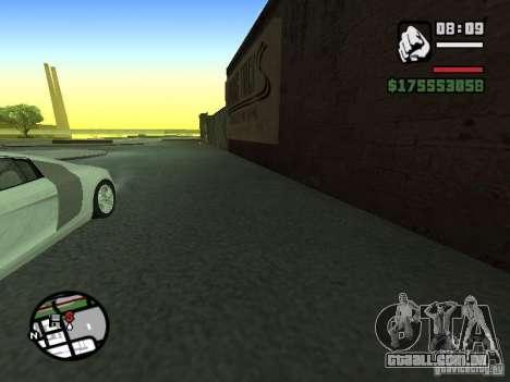 Primeira pessoa (primeira pessoa mod) para GTA San Andreas terceira tela