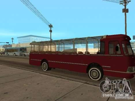 LIAZ 677 excursão para GTA San Andreas traseira esquerda vista
