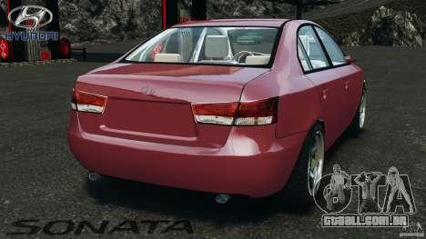 Hyundai Sonata v1.0 para GTA 4 traseira esquerda vista