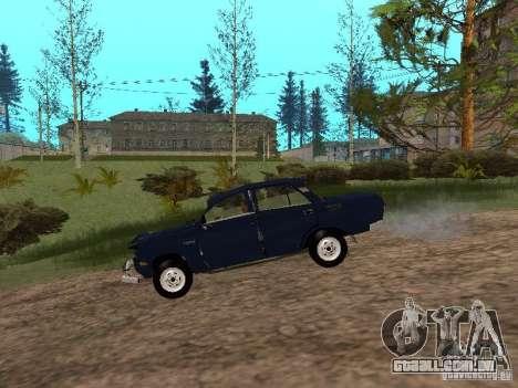Moskvich esfarrapado para GTA San Andreas traseira esquerda vista
