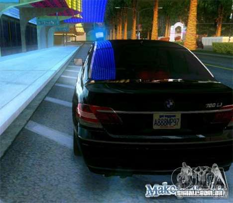 BMW 760Li (e66) SE para vista lateral GTA San Andreas