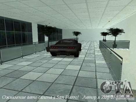 Trabalho showroom em San Fierro v1 para GTA San Andreas terceira tela