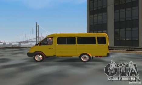 Gazela 2705 Minibus para GTA San Andreas esquerda vista