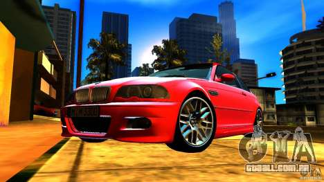 BMW M3 e46 para GTA San Andreas vista inferior