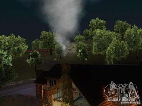 Lareira na casa do Toreno para GTA San Andreas terceira tela