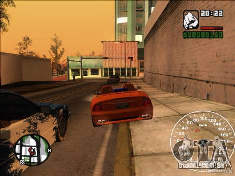 Spyder Cambriocorsa para GTA San Andreas vista superior