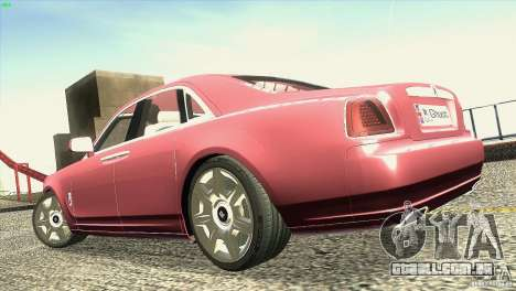 Rolls-Royce Ghost 2010 V1.0 para GTA San Andreas vista superior