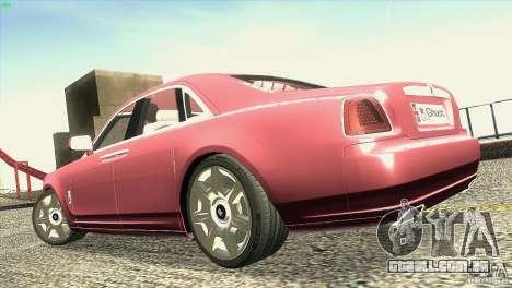Rolls-Royce Ghost 2010 V1.0 para GTA San Andreas vista superior